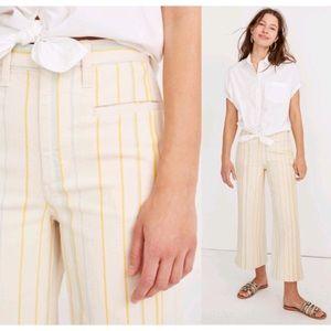 Madewell Emmett Wide-Leg Striped Crop Pants